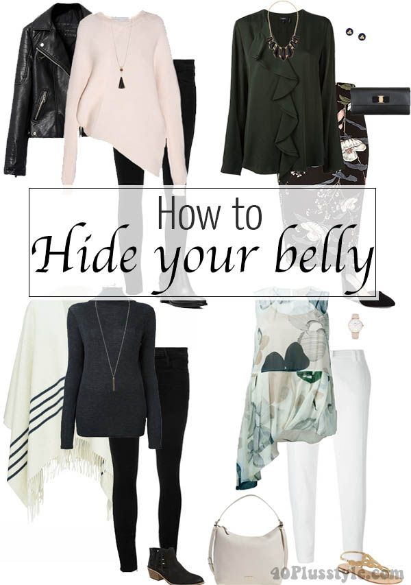 10 Sure Fire Ways To Hide Your Belly With The Right