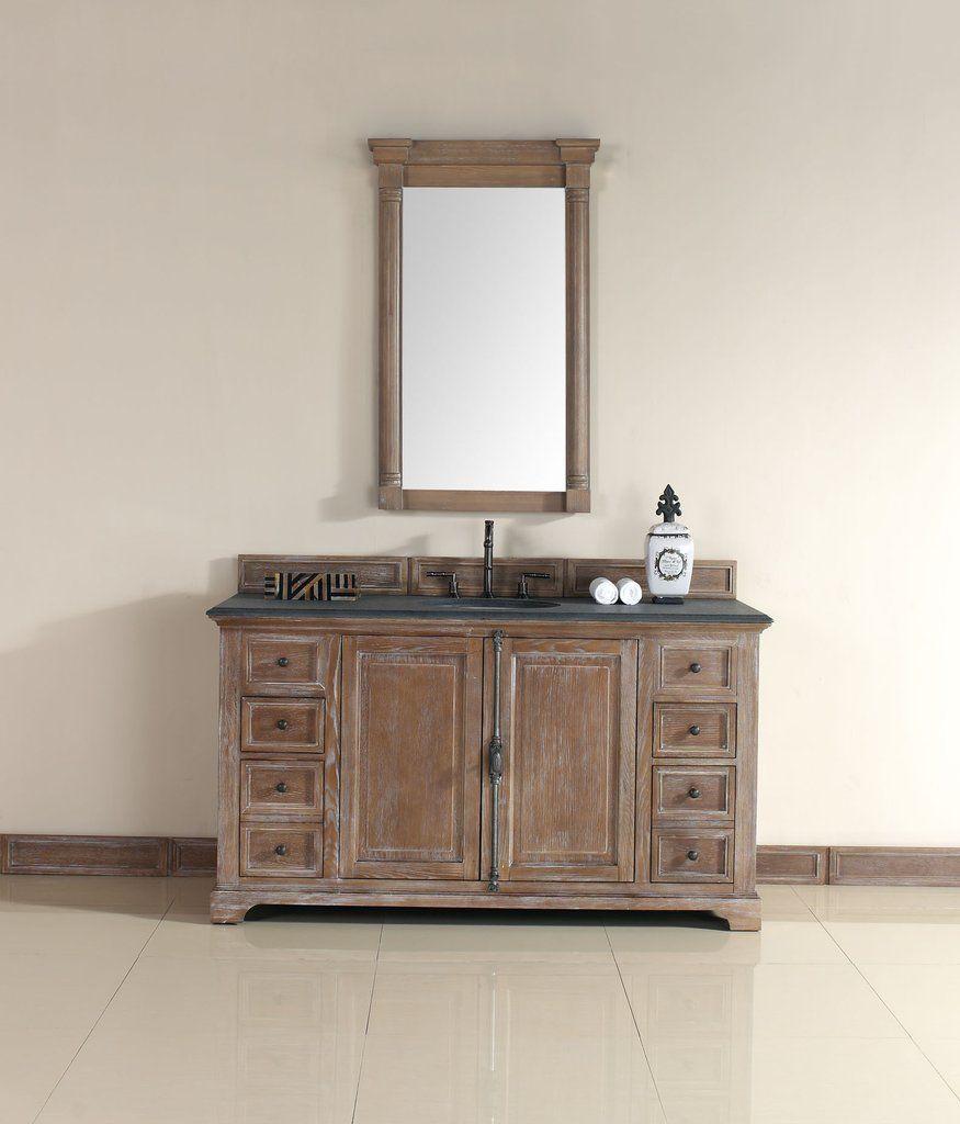 "James Martin 238-105-5311 Providence 60"" Single Vanity Cabinet, Driftw - Corbel Universe"