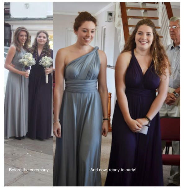 74db89fbcdc 10 Top Tips for when you have Teenage Bridesmaids. Teenage bridesmaids with  mix and match bridesmaid dresses  TheDessyGroup