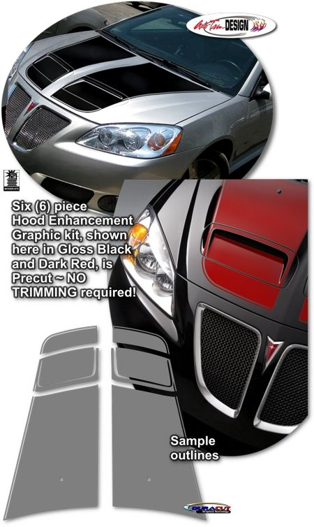 Rally Stripe Graphic Kits For Pontiac G6 Gxp That Are Precut And Ready To Install Car