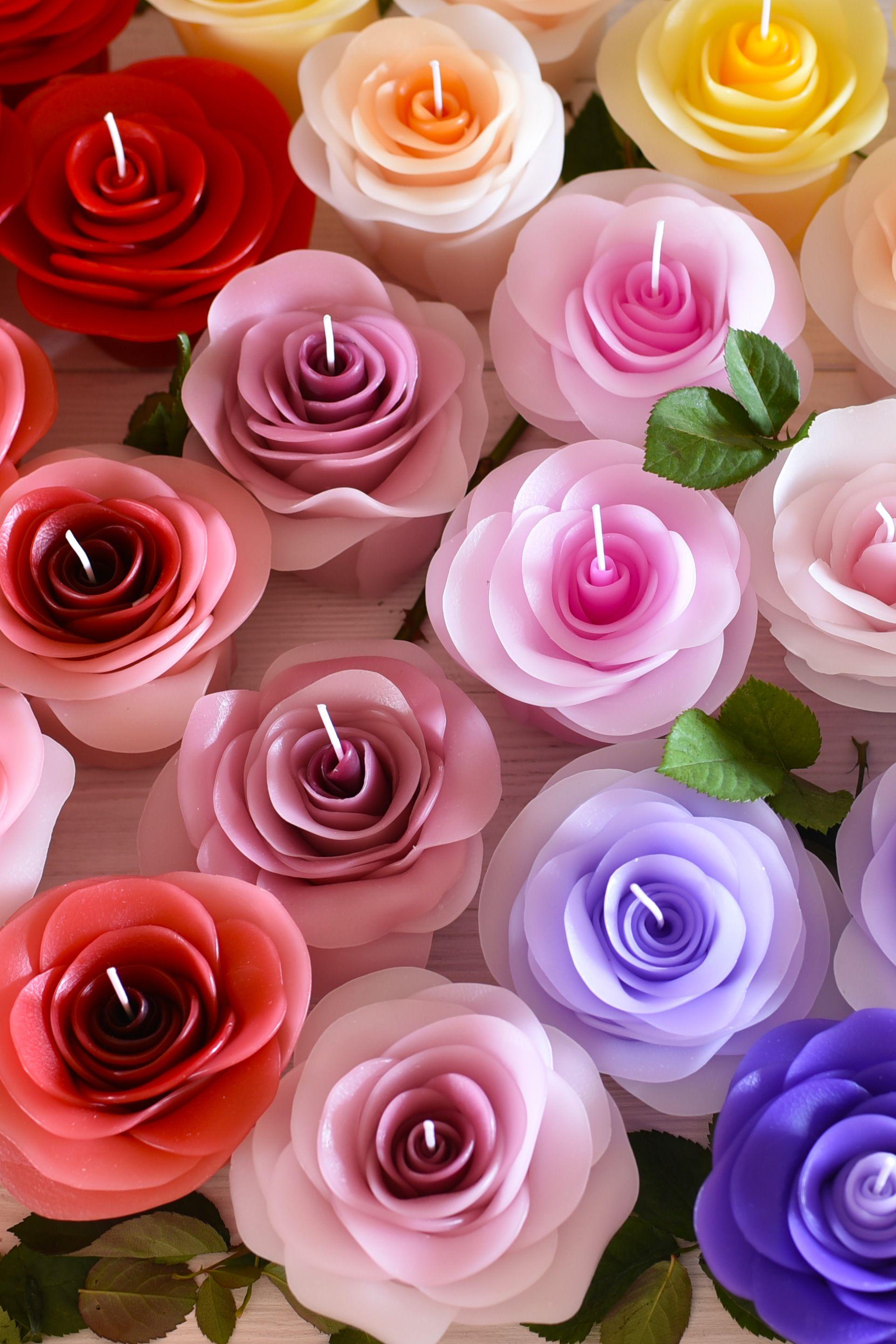 Eine Kerze In Form Einer Rose Ist Ein Perfektes Geschenk Fur Deine