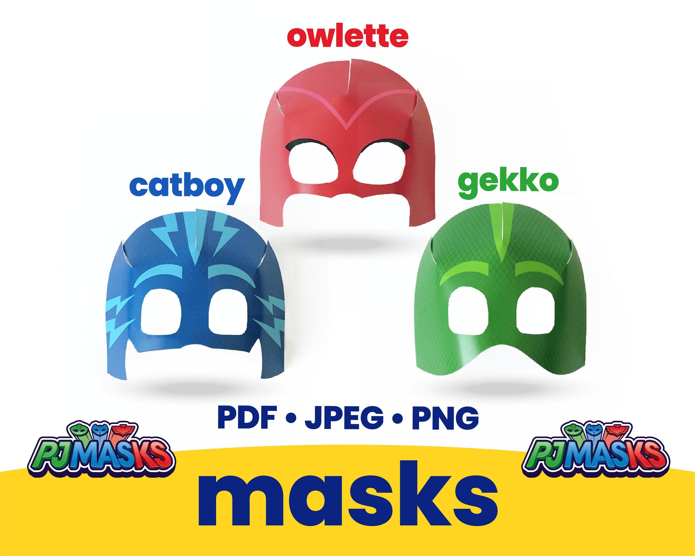 PJ MASKS Mask, pj masks download, catboy, gekko, owlette