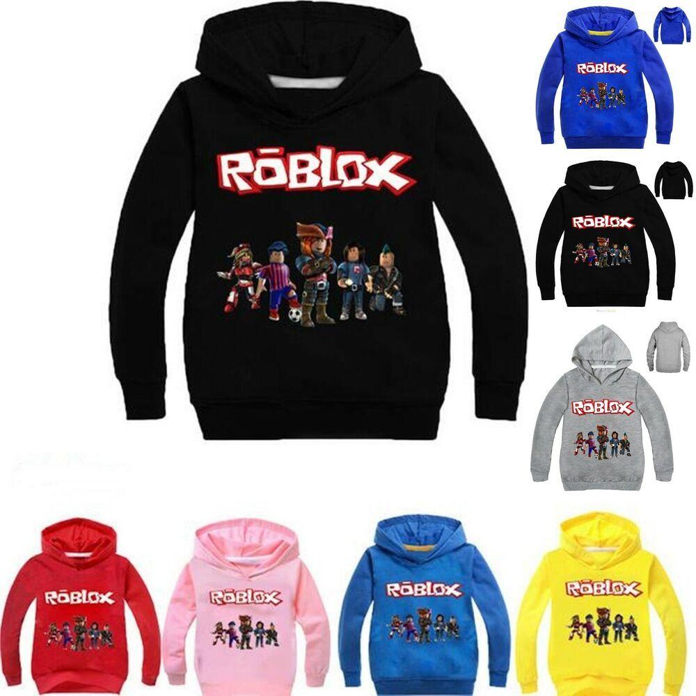 Boys Girls Roblox Hooded Hoodie Pullover Sweatshirt Long Sleeve Jumper Coat Tops Fortnite Uk Game Long Sweatshirt Boys Formal Shirts Hoodies [ 1000 x 1000 Pixel ]