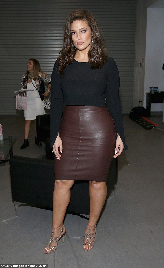 Ashley Graham Showcases Her Curves In Tight Fitting Skirt And