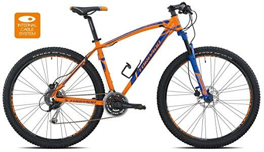 Torpado bici mtb mercury 29'' alu 3x8v disco taglia 40 arancione blu v17 (MTB Ammortizzate) / bicycle mtb mercury 29'' alu 3x8s disc size 40 orange blue v17 (MTB Front suspension)