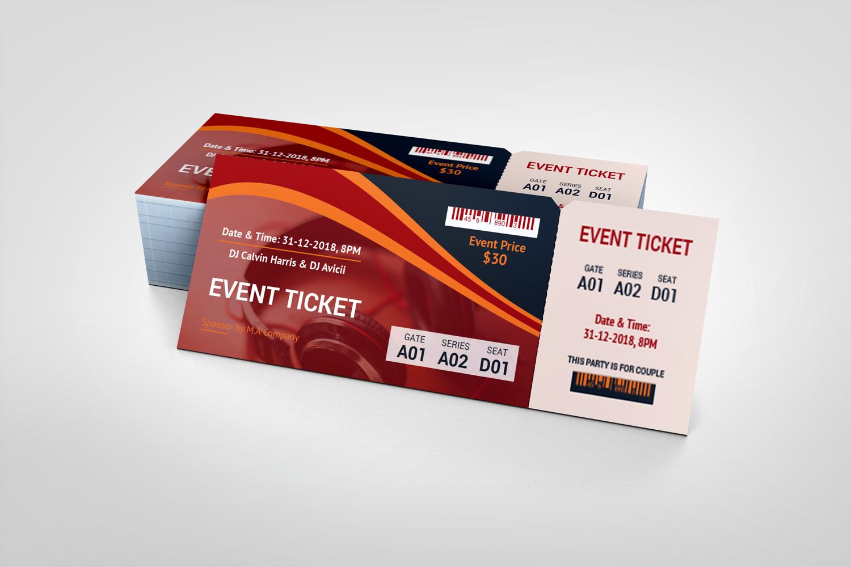 Dj Party Event Ticket Corporate Identity Template Event Ticket Template Party Event Dj Party