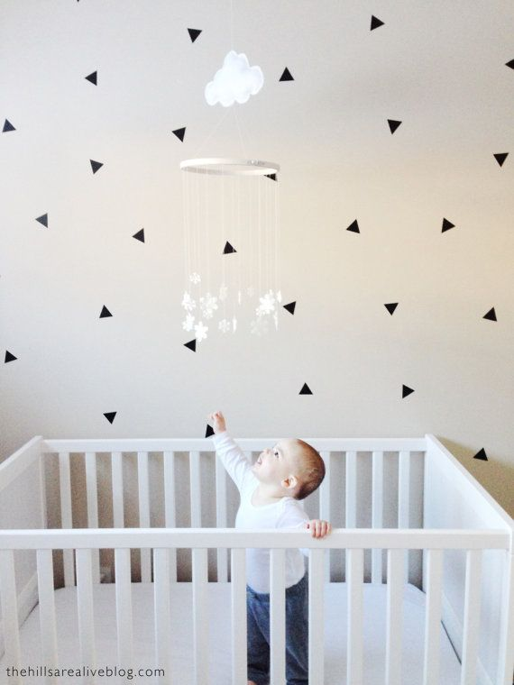 Vinyl Wall Sticker Decal Art Mini Triangles Pinterest Vinyl Delectable Etsy Baby Room