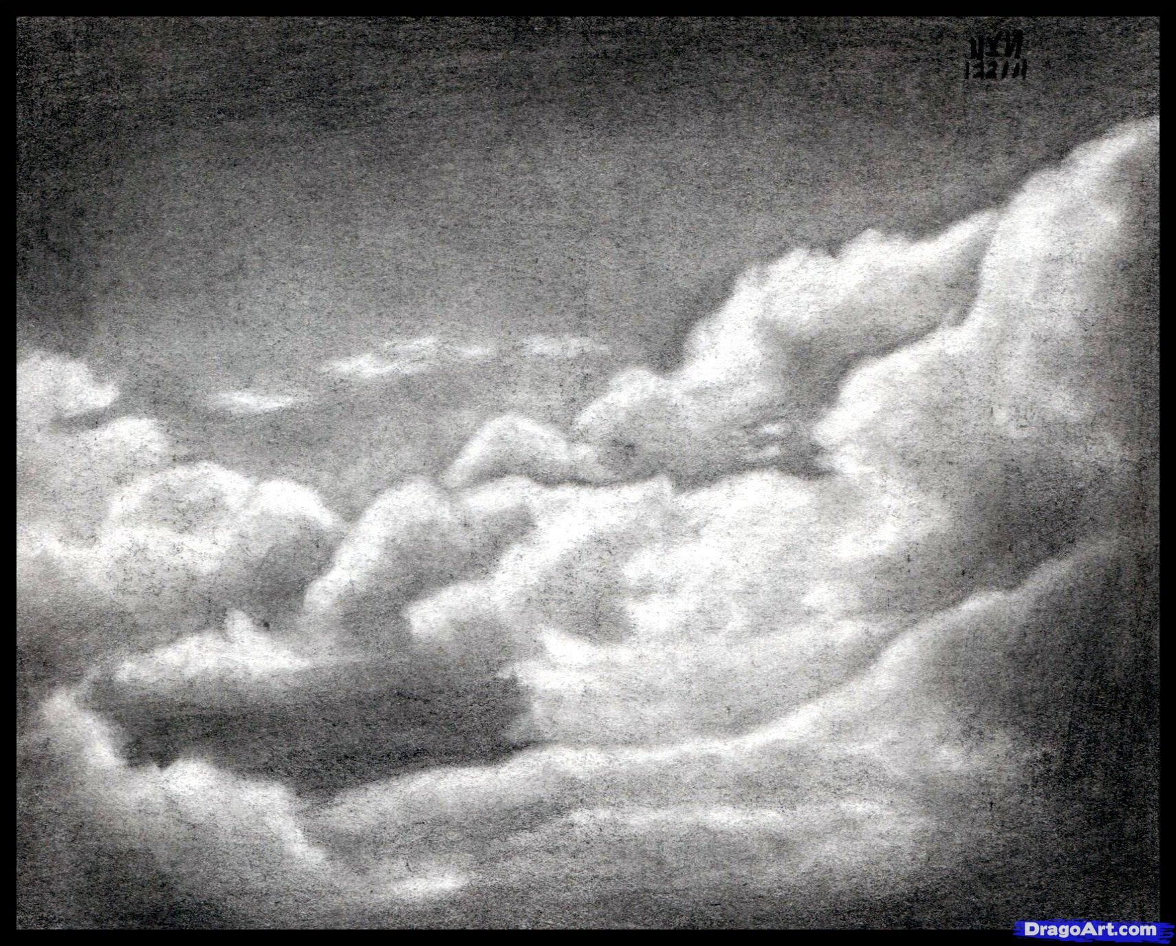 How To Draw Realistic Clouds Draw Clouds By Finalprodigy Cloud