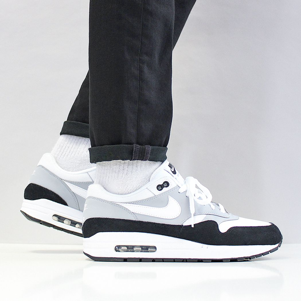 The Nike Air Max 1 shoe wolf grey white black at Urban