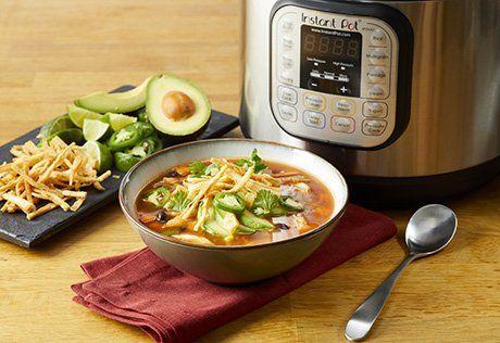 Instant Pot® Chicken Tortilla Soup Recipe| Campbell's Kitchen #chickentortillasoup