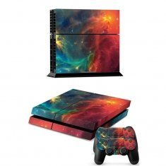 Deep Space Decal Cover Skin Sticker for Playstation 4 PS4 Console+2 Controllers Euro 4,40