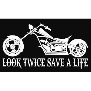 Look Twice Save A Life Logos Look Twice Save A Life Motorcycle - Stickers for motorcycles harley davidsons