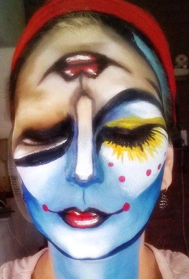 milcaras #maquillaje #artístico #makeup #artista #creative art