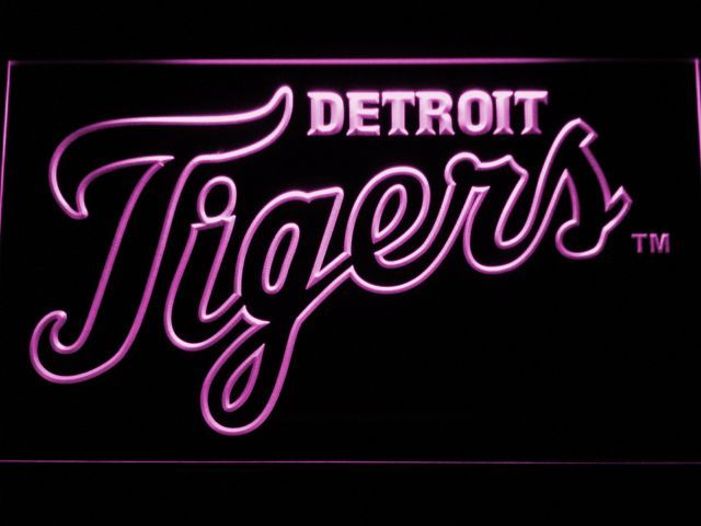 Detroit Tigers 3 LED Neon Sign