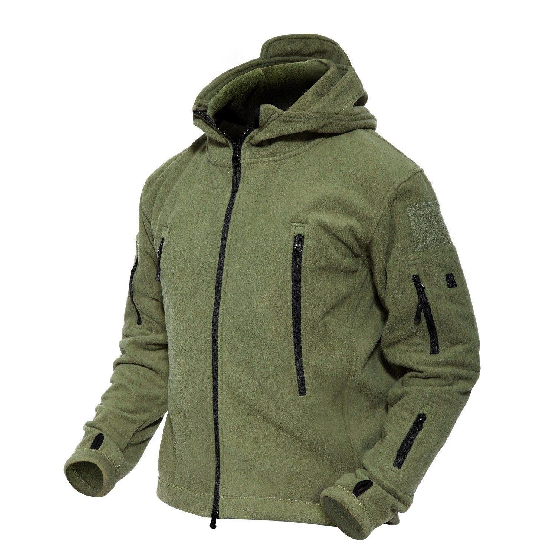 Men S Windproof Warm Military Tactical Fleece Jacket Army Green C512nu15m5p Tactical Jacket Combat Clothes Warm Fleece Jacket [ 1500 x 1500 Pixel ]