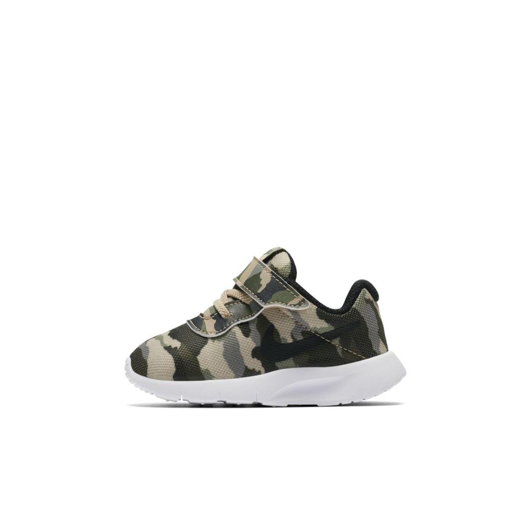 268dad518d8 Nike Tanjun Print Infant Toddler Shoe Size 3C (Mushroom)