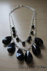 My Girlish Whims: Chunky Black Statement Necklace DIY