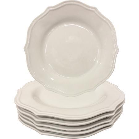Better Homes and Gardens 10.5  Scalloped Dinner Plates White Set of 6 -  sc 1 st  Pinterest & Better Homes and Gardens 10.5