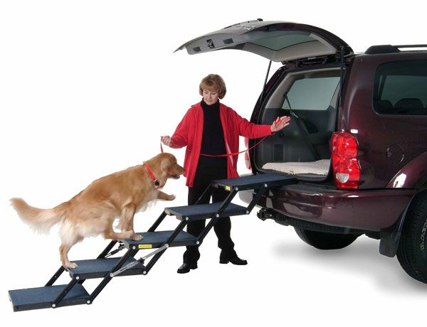 Meet The Pet Loader An Easy To Use And Store Solution To Get Your Dog In Your Car Truck Or Trailer It Has A Lightweight Design And Folds Down To A