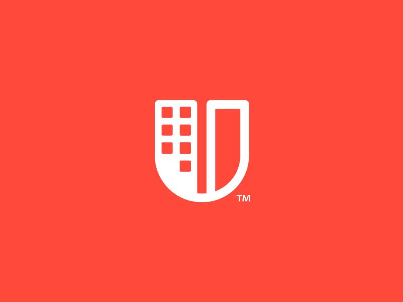 U Building Letter Logo Design Urban Logo Design Graphic Design Logo