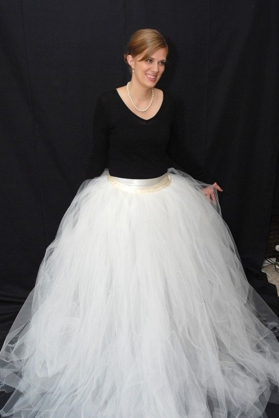 A Tulle Skirt That You Can Put Over Dress And Turn It Into Wedding