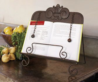 Marquee Metal Cookbook Stand Seen On Napastyle Com Cook Book