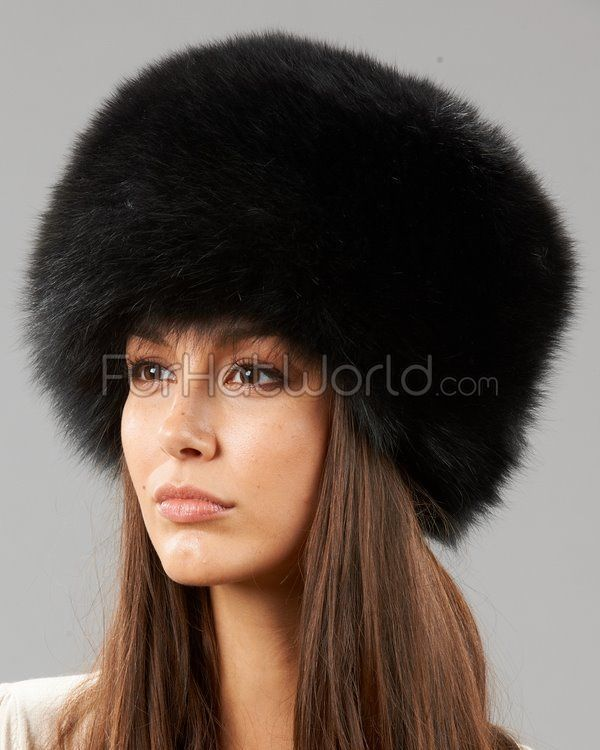 e01c7c1851f2c Zhivago Black Fox Fur Pill Box Hat | My Style | Fox fur, Pillbox hat ...