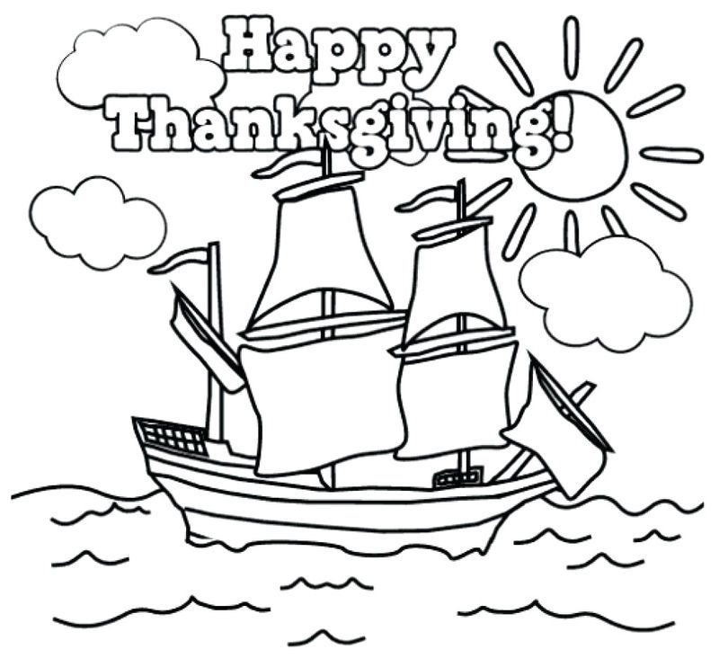 Thanksgiving Mayflower Coloring Pages See The Category To Find