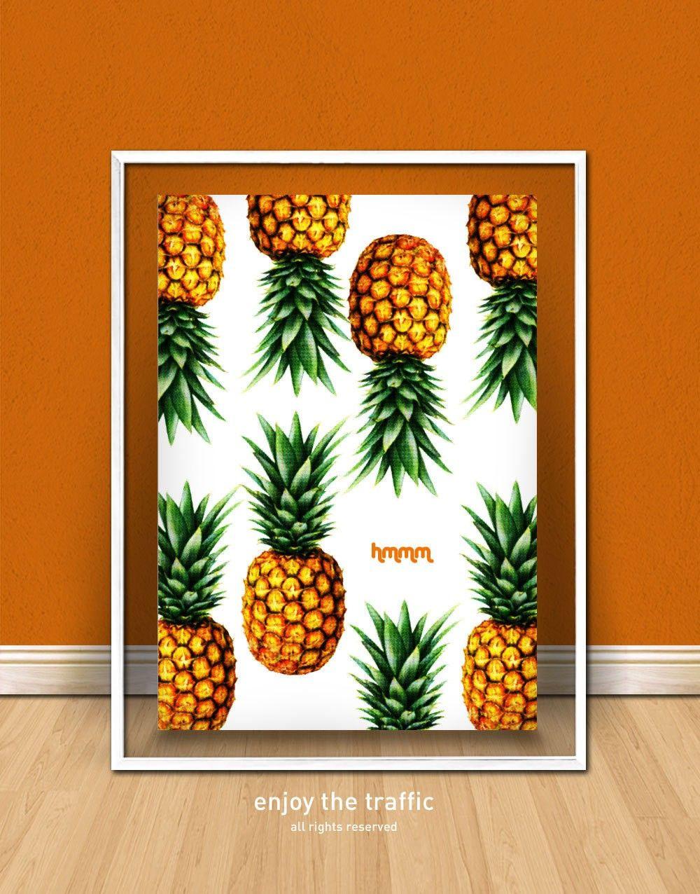 2017 Wall Decor Ideas Fun Pinele Print Fruit Art Poster F52002 Jpg 1000 1276