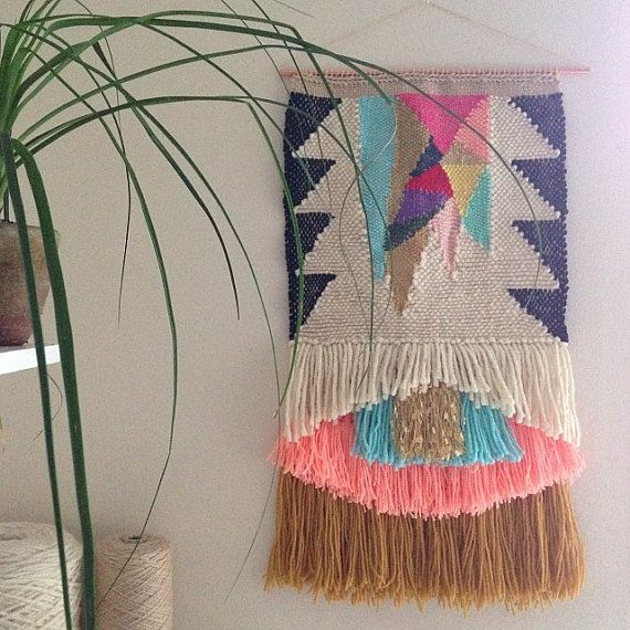 CUSTOM weaving for Claire Grocott woven wall hanging by Maryanne Moodie