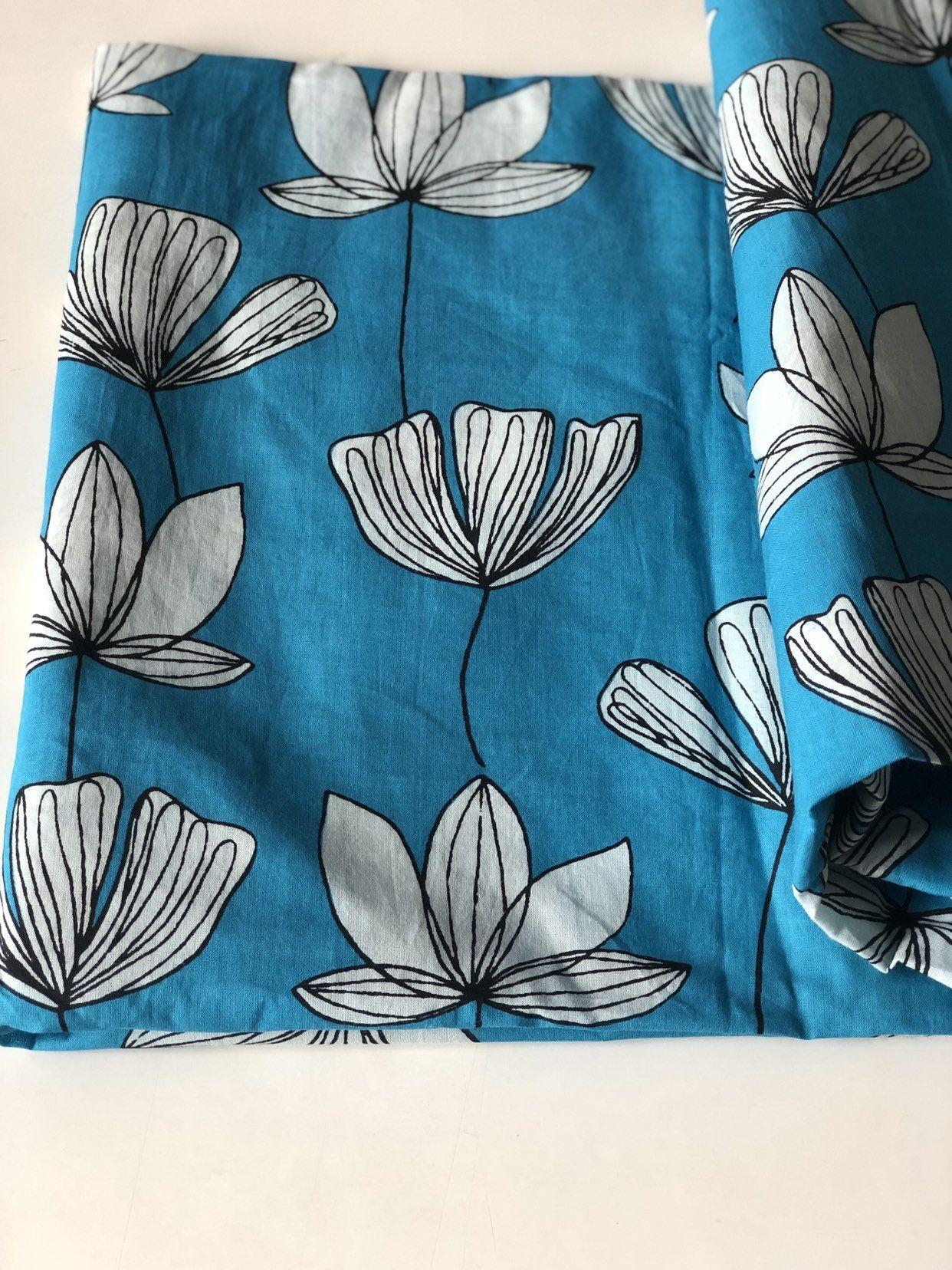 Botanical Print Scrap Indian Block Printed Cotton Fabric Floral