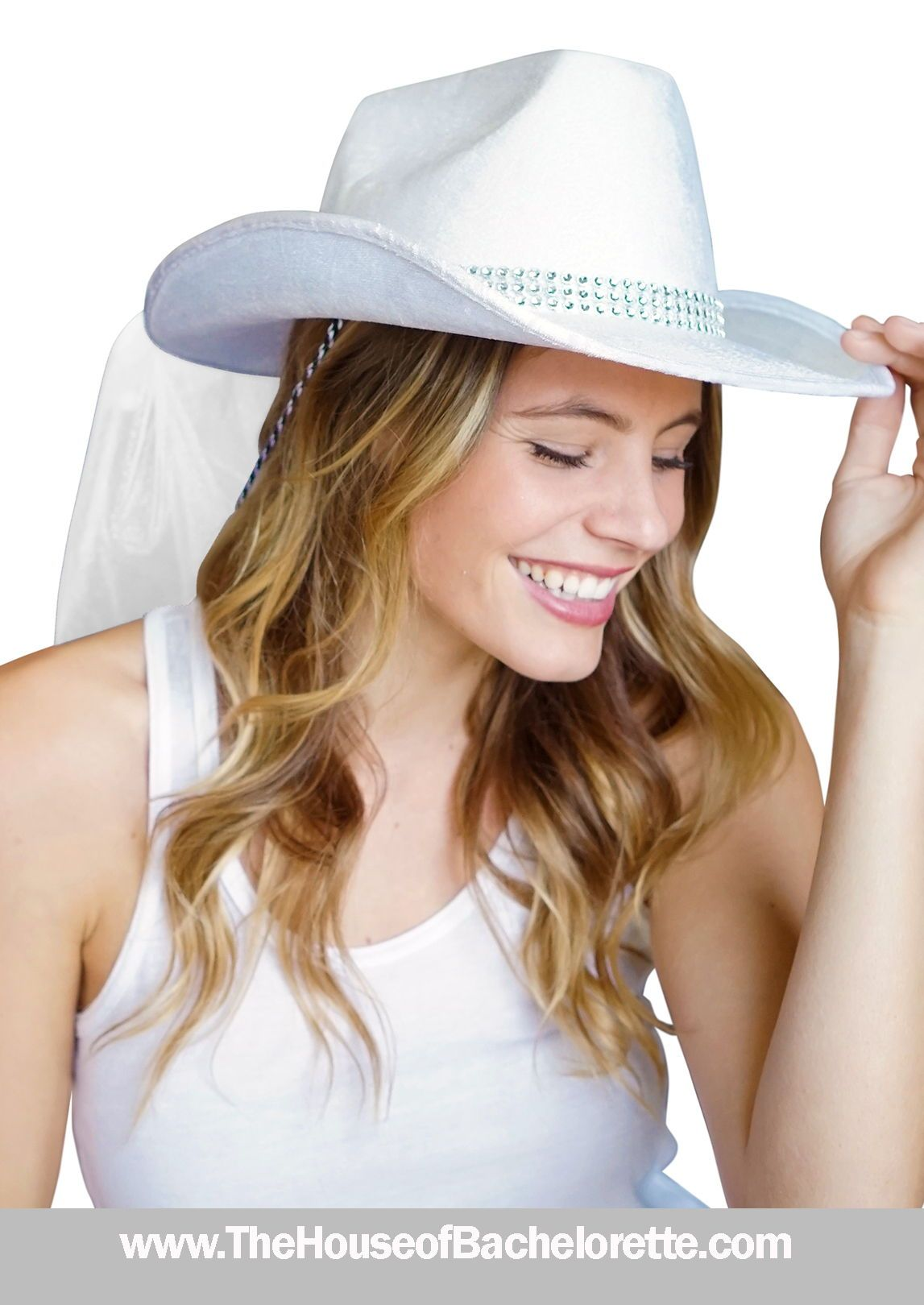 You Know What They Say Everything Is Bigger In Texas For Your Big Bachelorette Bash Be Sure To Don Your Western Bling Western Bride Hat Cowgirl Bachelorette