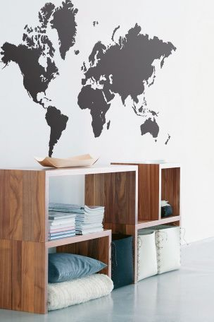 Ferm Living Stickers World Map -sisustustarra