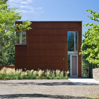 Prime Example Of Option 1a From Cladding Board Cor Ten Steel Corrugated Wall Panels Exterior