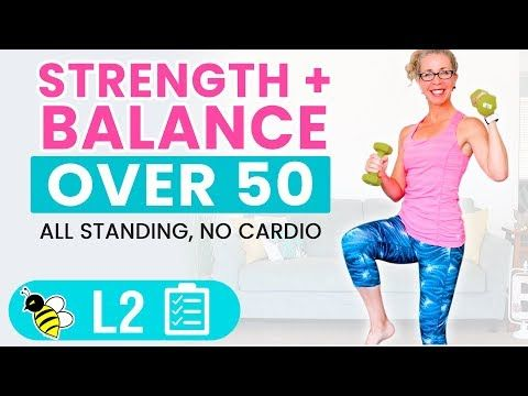 25 minute barefoot balance  strength workout functional