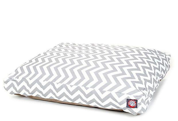 Chevron Rectangle Dog Bed, Gray on OneKingsLane.com