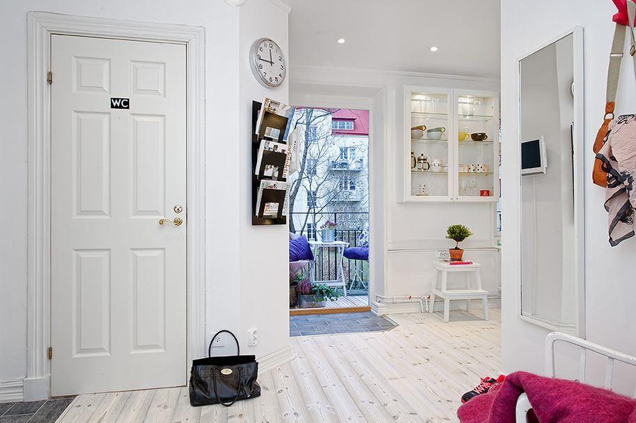 Apartment Interior in Colorful Accent for Unique Design : Scandinavian Apartment Interior Among White Color Decoration Design