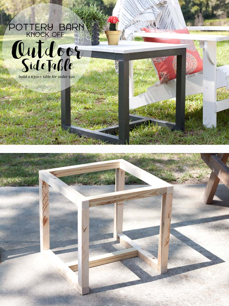 Photo of DIY Outdoor Side Table   Pottery Barn Knockoff