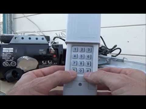 Clicker Keypad Programto Smart X2f Learn Button Type4 Youtube Craftsman Garage Door Opener Craftsman Garage Door Garage Door Opener