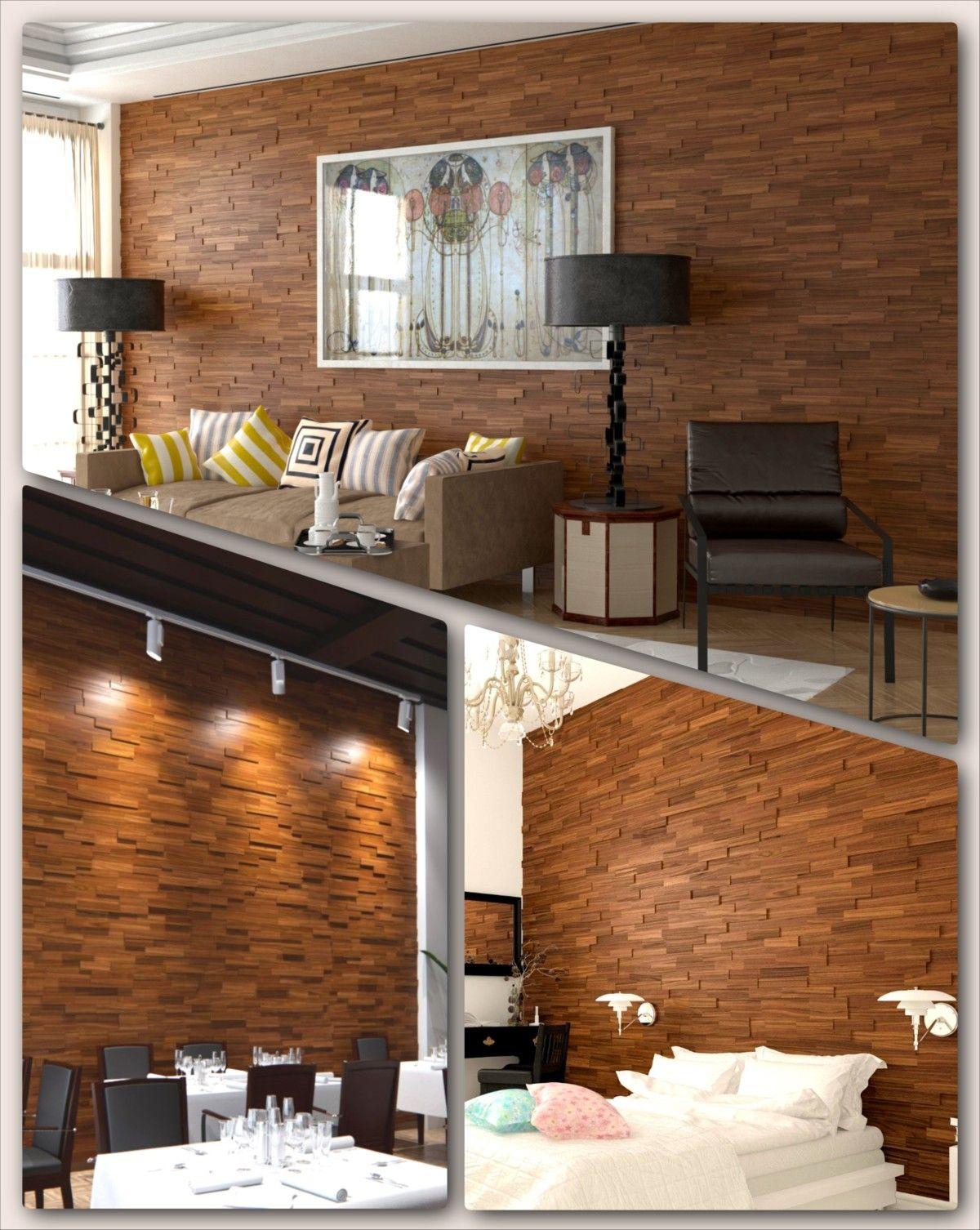 Living Room Walls Wood Panels: Interior 3D Mosaic Wood Wall