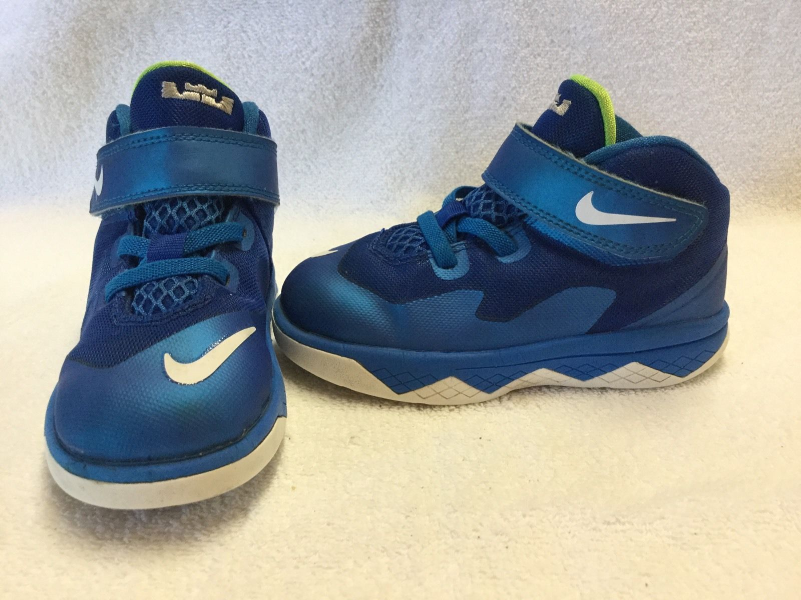 Nike Lebron Soldier 8 Infant Toddler Boys Royal Blue Shoes Size 8 C | eBay