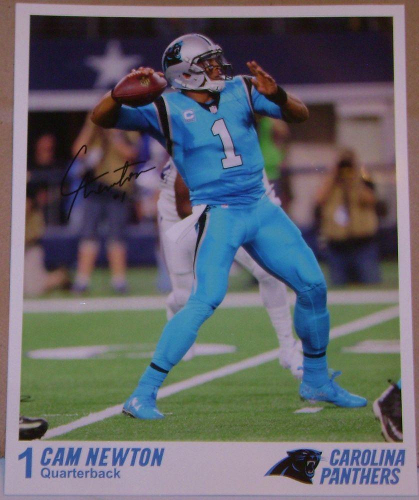 CAM  NEWTON CAROLINA PANTHERS NFL 8 X 10 COLOR PHOTO + PANTHERS LANYARD #CarolinaPanthers