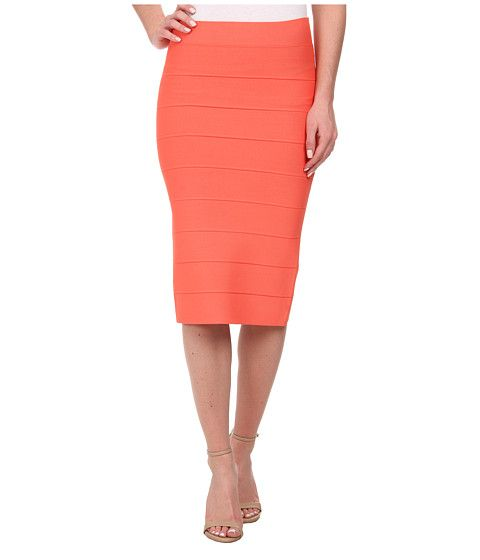 Coral bandage skirt from BCBGMAXAZRIA. Great length for a pencil ...