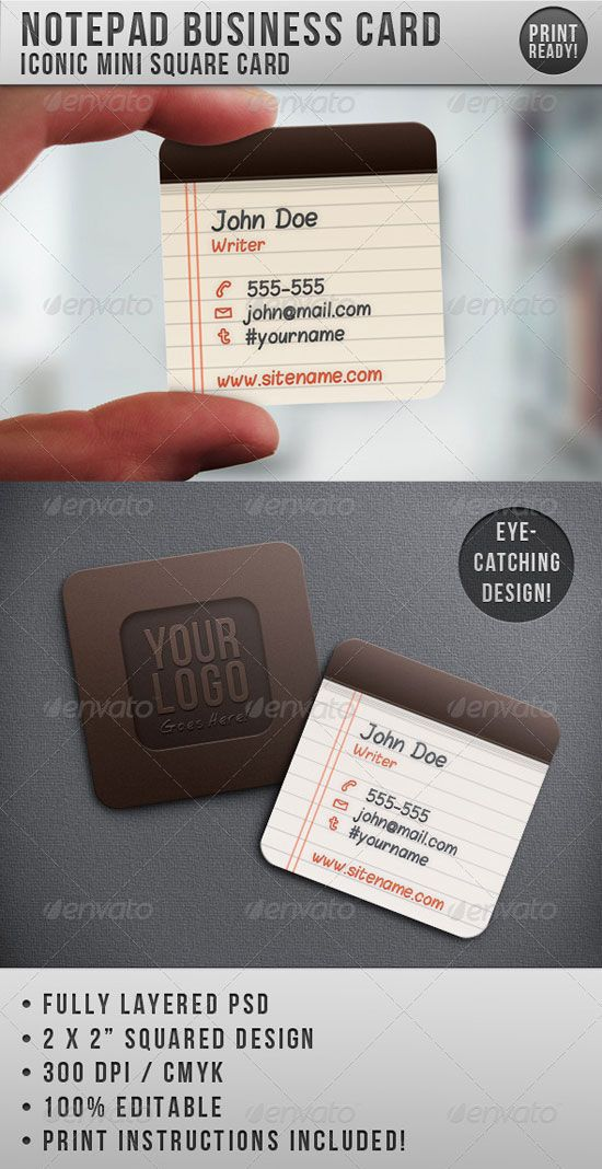 Square Business Cards | Church Ideas | Pinterest | Business cards ...