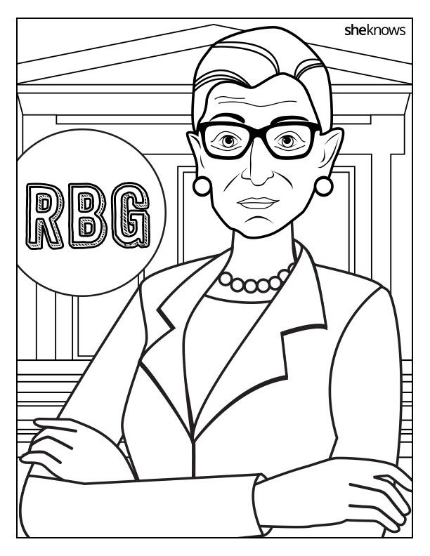 This Ruth Bader Ginsburg Coloring Book Is 9 Printable Pages Of Pure Magic Coloring Books Coloring Pages Flag Coloring Pages