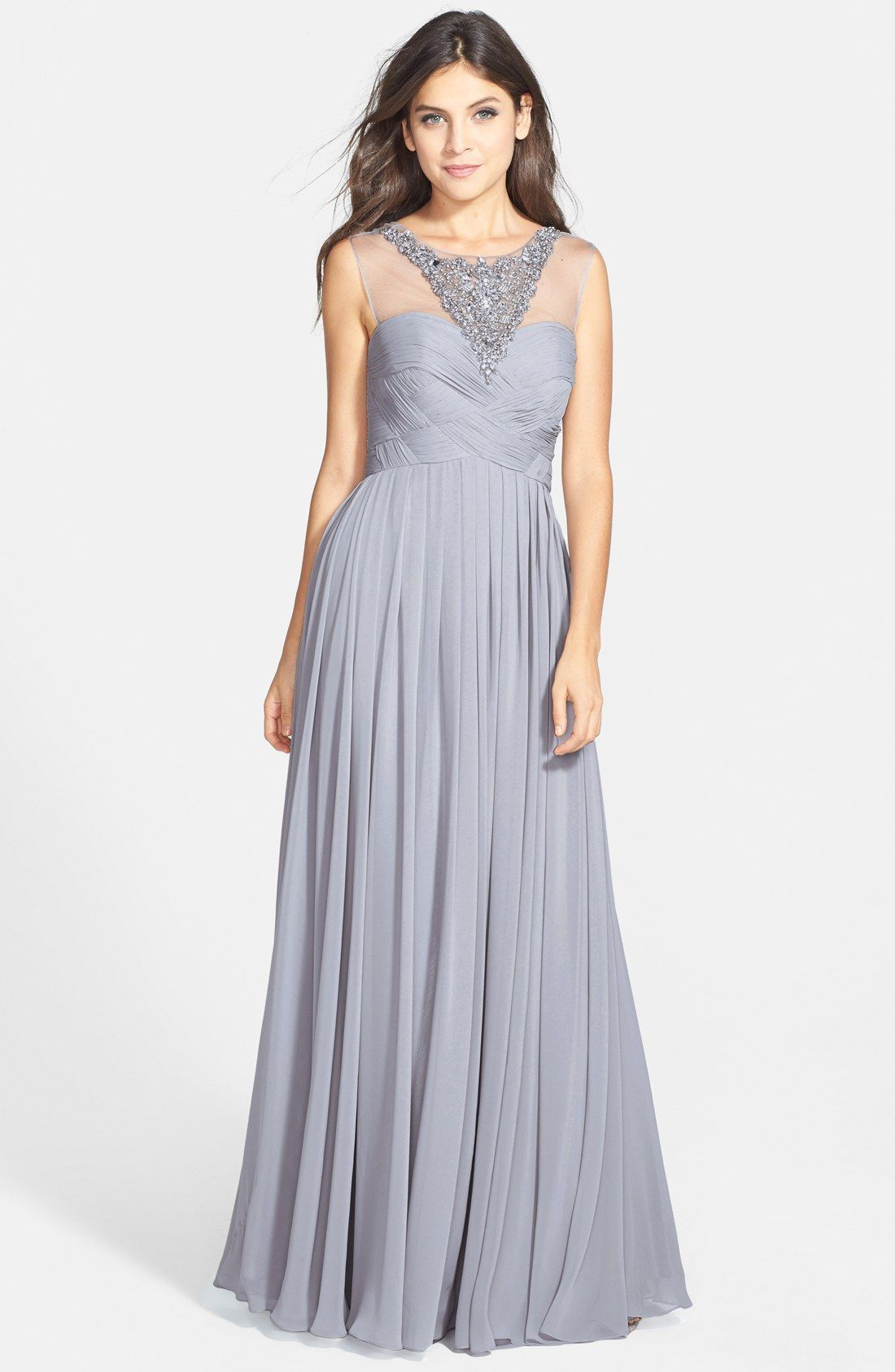 Free shipping and returns on js collections embellished illusion free shipping and returns on js collections embellished illusion yoke chiffon gown at nordstrom ombrellifo Images