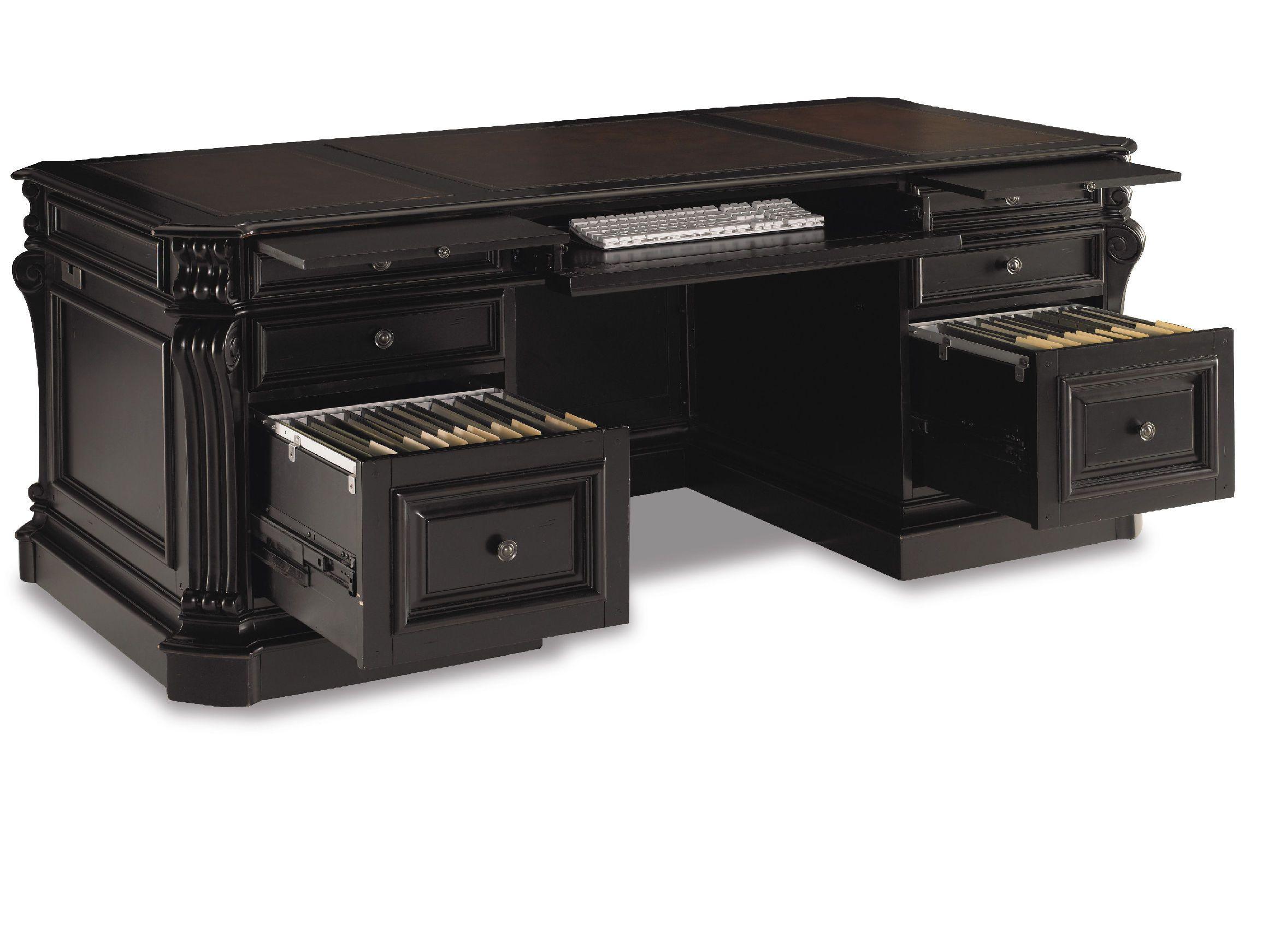 Hooker Furniture Home Office Executive Desk 370 10 363   Marty Raes Of  Lexington