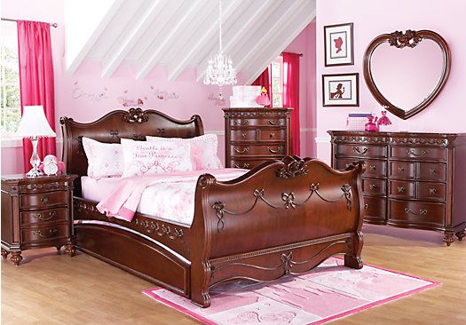 Disney Princess Cherry 6 Pc Full Sleigh Bedroom In 2019