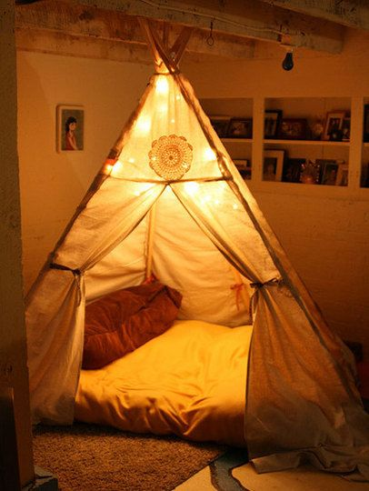 Bedrooms & Escape into Your Indoor Fort | Tents Living rooms and Forts