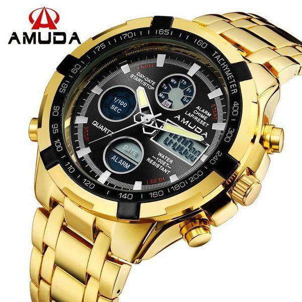 f9da9a1db69 Relogio Dourado Digital Amuda - Dali Relógios